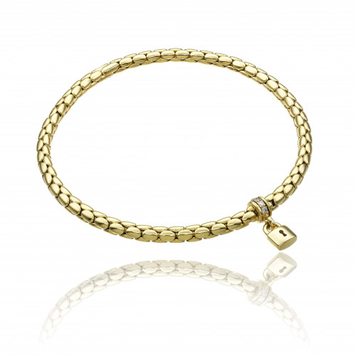 CHIMENTO_stretch_spring_charms_padlock_yellow