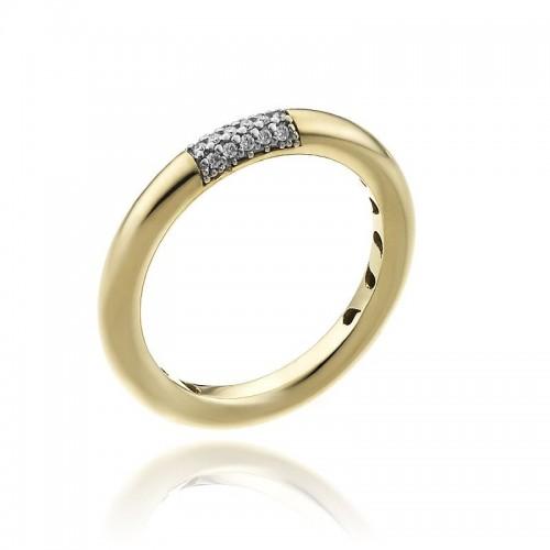 Bamboo-Pure-anello-una-fila-oro-giallo