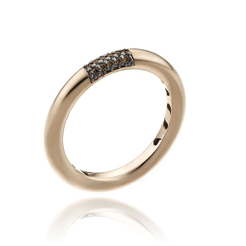 Bamboo-Pure-ring-single-pink-gold-brown-diamonds