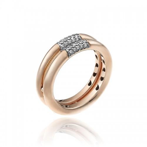 Bamboo-Pure-anello-due-file-oro-rosa