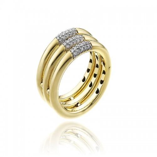 Bamboo-Pure-anello-tre-file-oro-giallo