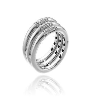 Bamboo-Pure-anello-tre-file-oro-bianco