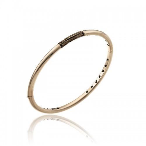 Bamboo-Pure-bracciale--oro-rosa-diamanti-brown