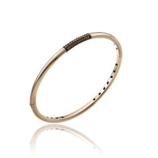 Bamboo-Pure-bracciale--oro-rosa-diamanti-brown