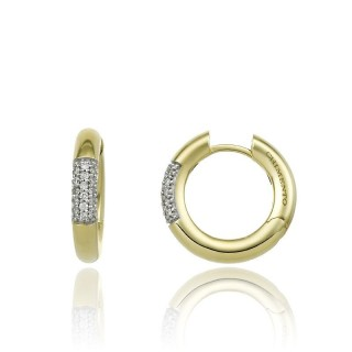 Bamboo-Pure-yellow-gold-hoops
