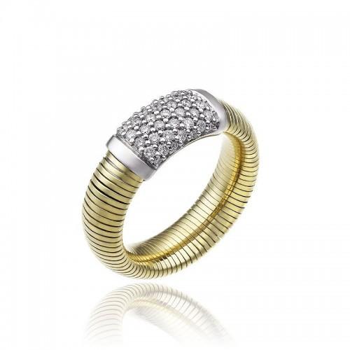 CHIMENTO-anello-medio-Stardust-Pavè-oro-giallo
