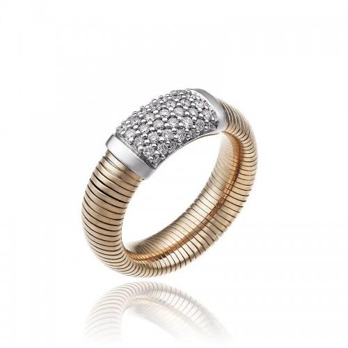 CHIMENTO-anello-medio-Stardust-Pavè-oro-rosa