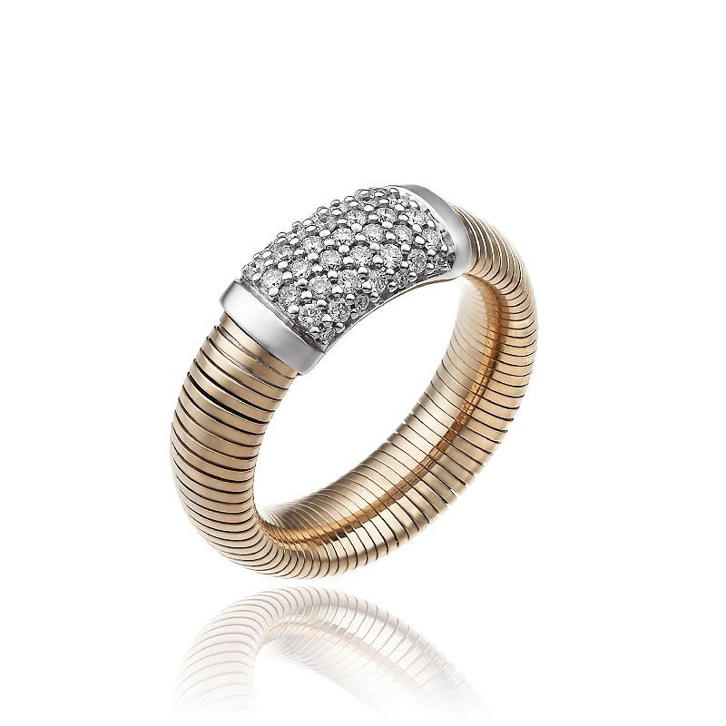 CHIMENTO-ring-medium-Stardust-Pavè-pink-gold