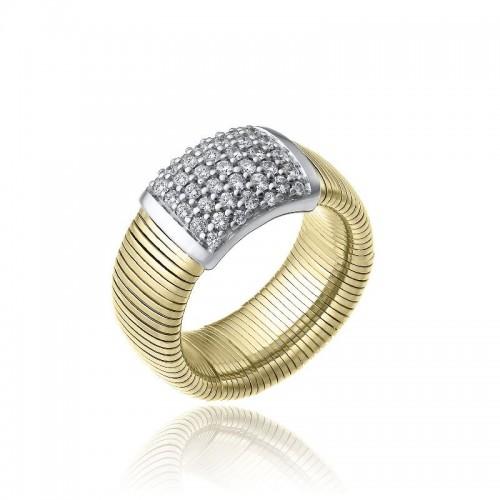 CHIMENTO-anello-grande-Stardust-Pavè-oro-giallo