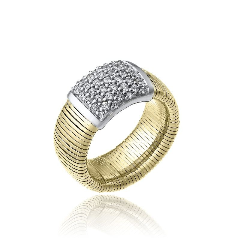 CHIMENTO-ring-big-Stardust-Pavè-yellow-gold