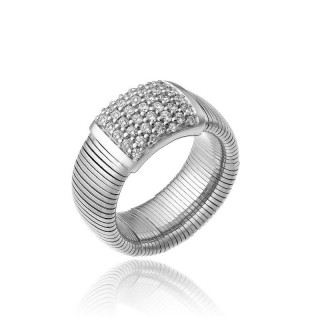 CHIMENTO-ring-big-Stardust-Pavè-white-gold