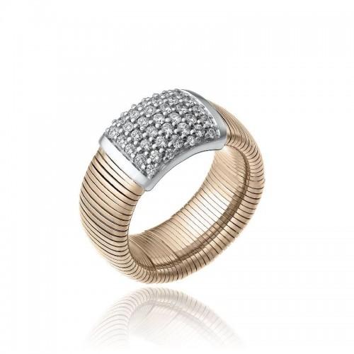 CHIMENTO-anello-grande-Stardust-Pavè-oro-rosa