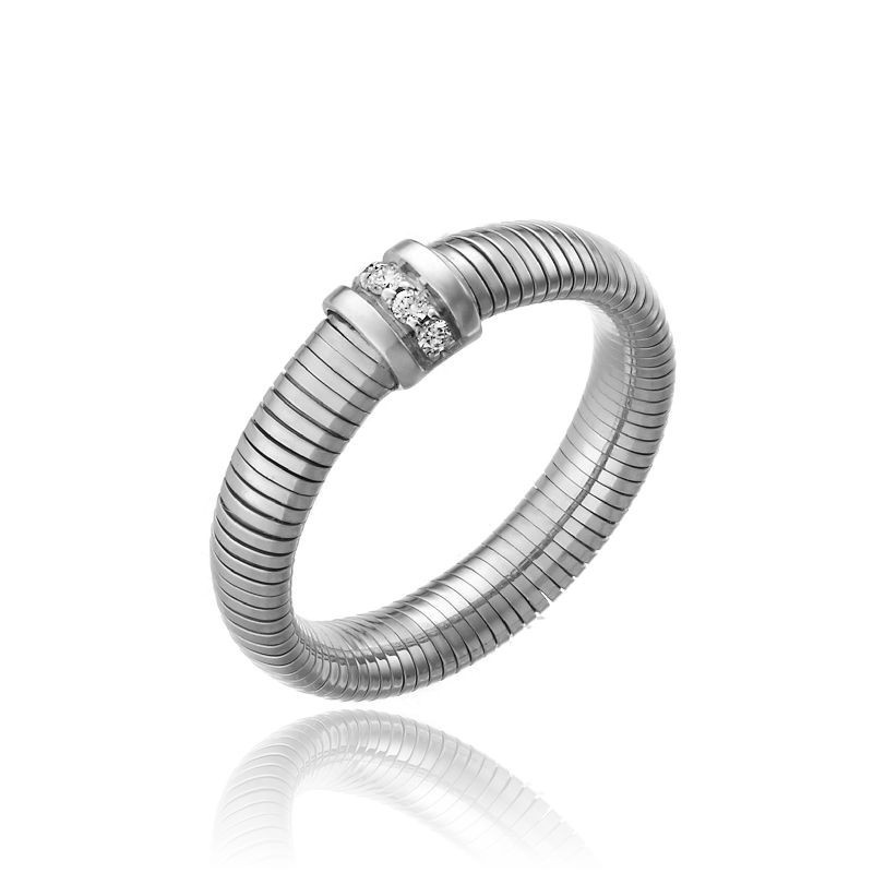 CHIMENTO-tubogas-ring-small-Stardust-Pavè-white-gold