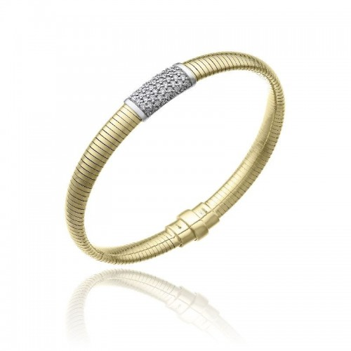 CHIMENTO-bracciale-medio-Stardust-Pavè-oro-giallo