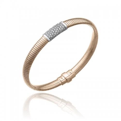 CHIMENTO-bracciale-medio-Stardust-Pavè-oro-rosa
