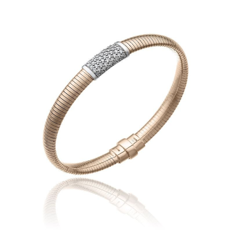 CHIMENTO-bracelet-medium-Stardust-Pavè-pink-gold