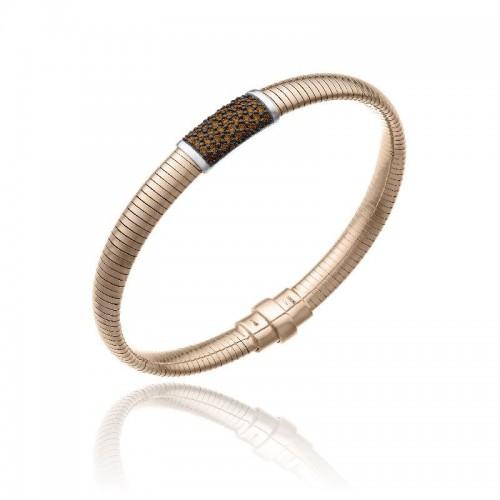 CHIMENTO-bracelet-medium-Stardust-Pavè-pink-gold-brown-diamonds