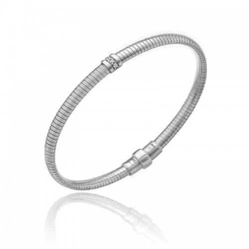 CHIMENTO-tubogas-bracelet-small-Stardust-Pavè-white-gold