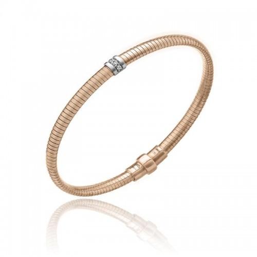 CHIMENTO-anello-tubogas-small-Stardust-Pavè-oro-rosa