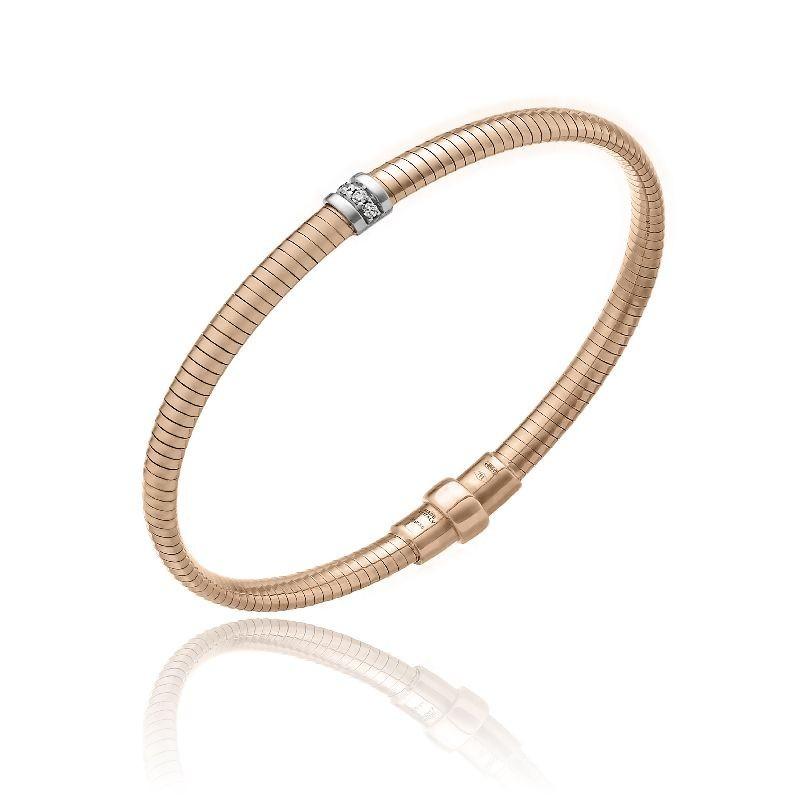 CHIMENTO-tubogas-bracelet-small-Stardust-Pavè-pink-gold