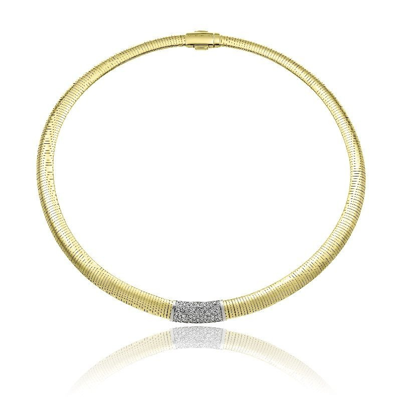 CHIMENTO-tubogas-collar-Stardust-Pavè-yellow-gold