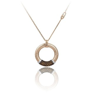 Stardust-Pavé-pink-gold-pendent-brown-diamonds