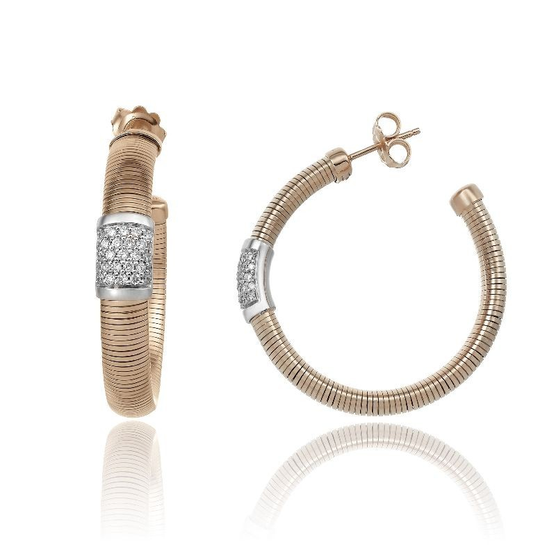 CHIMENTO-tubogas-earrings-Stardust-Pavè-pink-gold