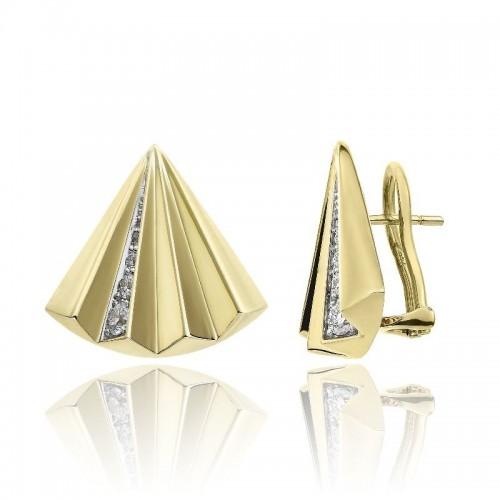 Chimento-orecchini-oro-giallo-ventaglio-Bamboo-Sipario