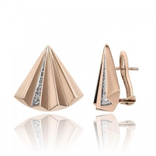 Chimento-orecchini-oro-rosa-ventaglio-Bamboo-Sipario
