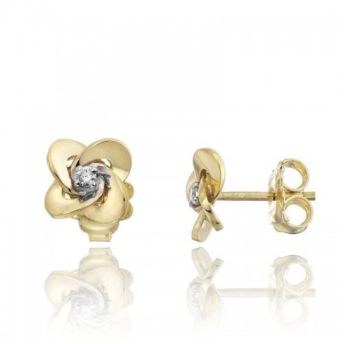 Link-Joy-button-little-flower-earrings-yg