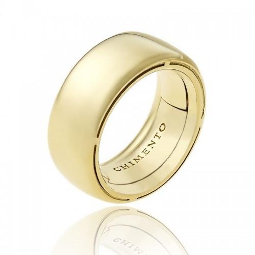 Anello CHIMENTO Forever UNICO personalizzabile altezza fascia 9 mm in oro giallo 18 kt e diamanti