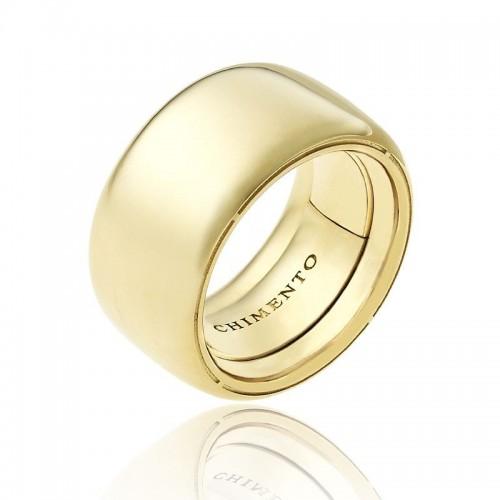Anello CHIMENTO Forever UNICO personalizzabile altezza fascia 12 mm in oro giallo 18 kt e diamanti