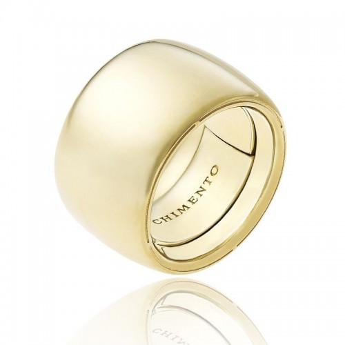 Anello CHIMENTO Forever UNICO personalizzabile altezza fascia 18 mm in oro giallo 18 kt e diamanti
