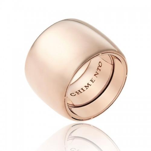 Anello CHIMENTO Forever UNICO personalizzabile altezza fascia 18 mm in oro rosa 18 kt e diamanti